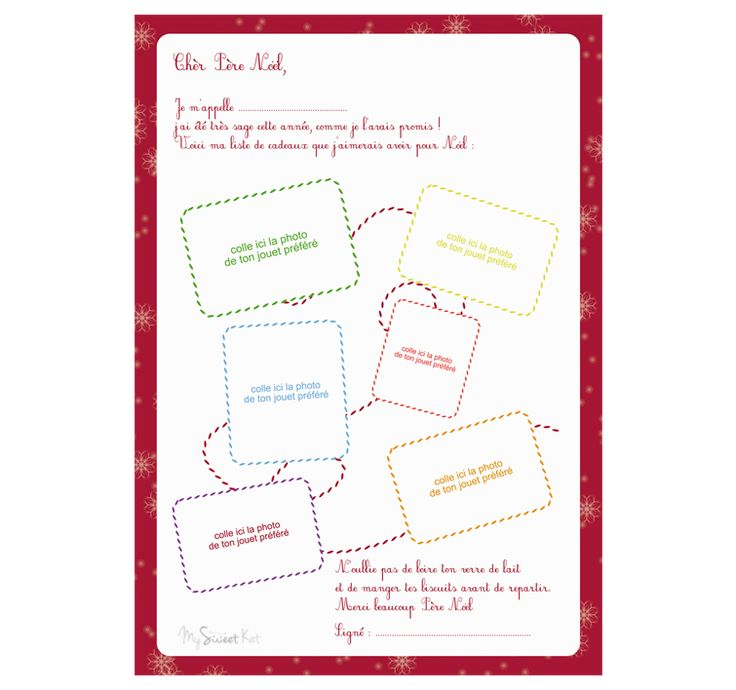 1000 images about mod le lettre au p re no l on pinterest - Modele lettre pere noel ...