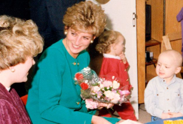 25 February 1993 Princess Diana opens The Wolfson Children's Cancer Unit.