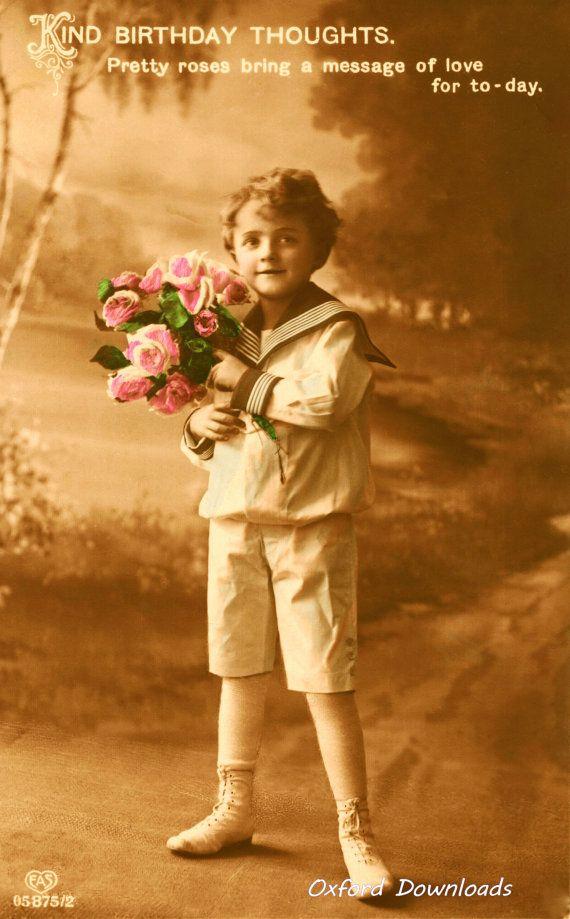 Edwardian Boy Happy Birthday Card Digital by OxfordDownloads https://www.etsy.com/uk/listing/270678380/edwardian-boy-happy-birthday-card?utm_source=Pinterest&utm_medium=PageTools&utm_campaign=Share