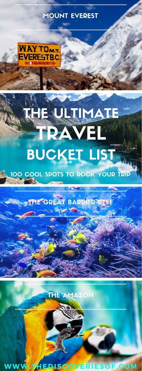 100 unique travel bucket list ideas - the ultimate list of things to do and places to see in your lifetime. Read the full guide now. See the world, embrace adventure, satisfy your wanderlust.