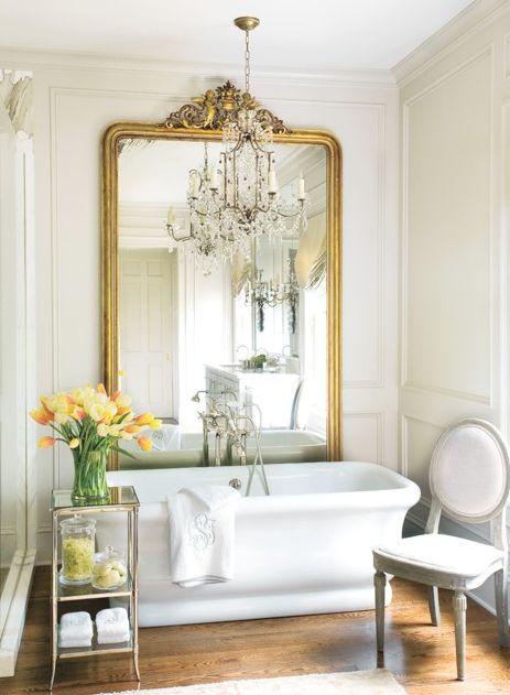 so pretty,the monogram & mirror and all the white