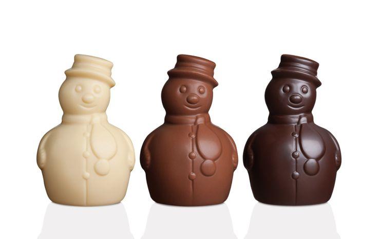 "bonhomme de neige chocolat | Galler chocolate, ""Snowman"" range (picture © Galler)"