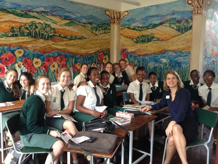 Karen Iber visits Chisipite Senior School Zimbabwe on the 4th September 2013