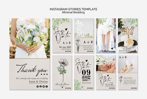 Download Minimal Wedding Instagram Stories Template For Free Instagram Story Template Instagram Story Story Template