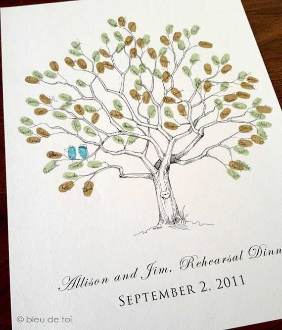 Small Fingerprint Live Oak Tree Wedding Guest Book Hand Drawn: 1000+ Images About Guest Book On Pinterest