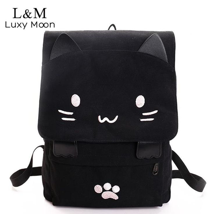 We love the new Cute Cat Canvas B... Check it out here! http://www.mermaidsandsailors.net/products/cute-cat-canvas-backpack?utm_campaign=social_autopilot&utm_source=pin&utm_medium=pin