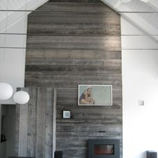 contemporary living room by Searl Lamaster Howe Architects.  Cerused application