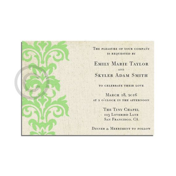 8 best wedding invitations images on Pinterest Mint weddings, Mint - best of wedding invitation design download