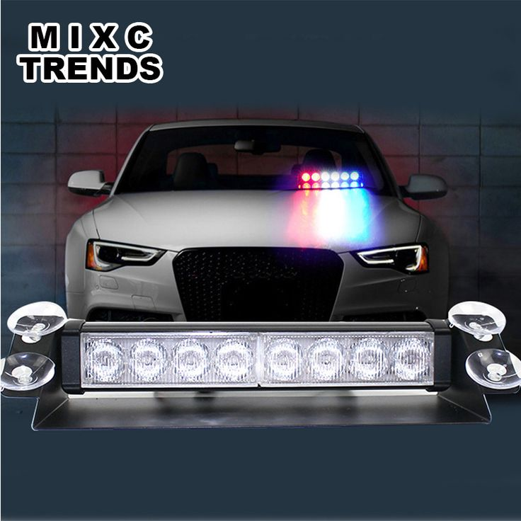 Police Strobe Flash Light Dash Emergency Warning 3 Flashing Fog Lights Boat Truck Car Windshield 8 LED Strobe Light Lamp