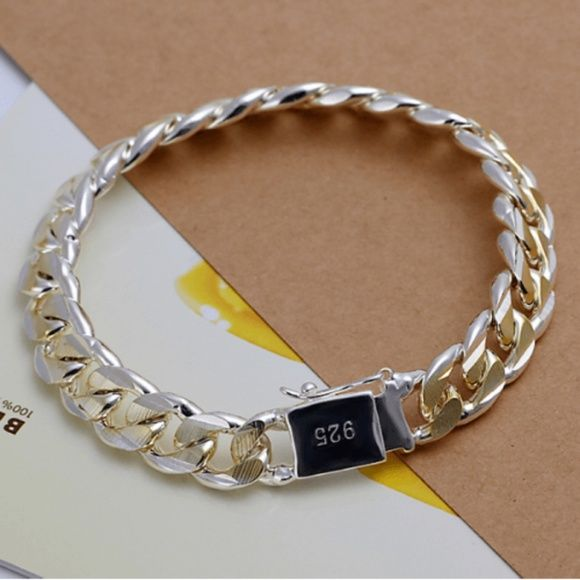 Metal Weave Bracelet silver or gold