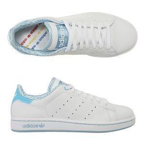adidas baskets stan smith 2 femme blanc et bleu achat vente adidas stan smith 2 femme pas. Black Bedroom Furniture Sets. Home Design Ideas