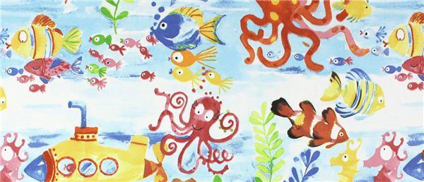 Designer Blinds loves this new children's range of fabrics called Under The Sea.