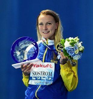 スウェーデン代表、競泳のサラ・ショーストレム選手は、2015 年の世界選手権で 55 秒 64 の世界記録を樹立したばかり。オリンピックでは金メダル有力候補。リオデジャネイロオリンピック・リオ五輪2016