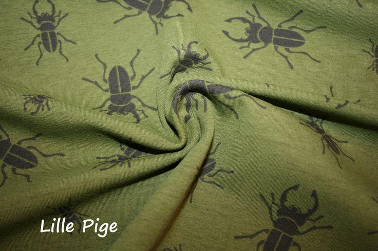 """Jersey  """"Skarabäus-Shirt"""" v.Hilco, oliv von Lille Pige - Stoffe & Bänder auf DaWanda.com"""