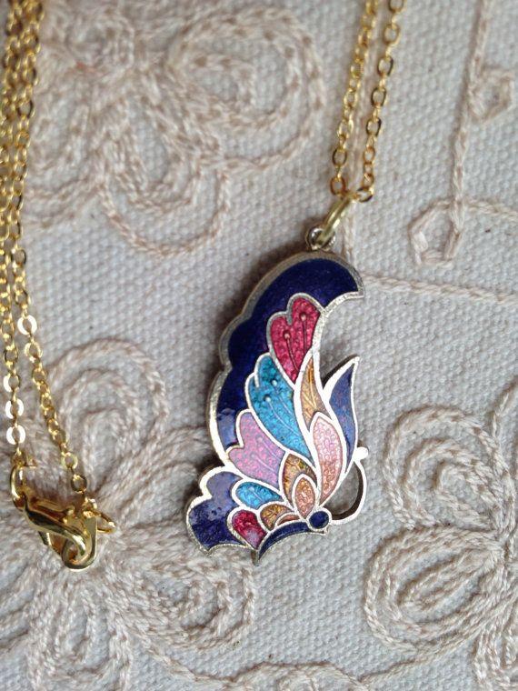 Butterfly pendant necklace butterfly pendant by DuckCedar on Etsy