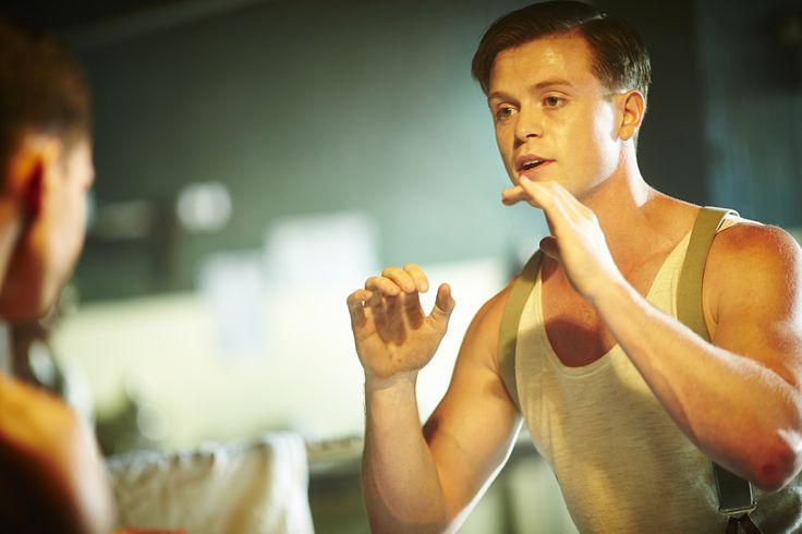 Constable Hugh Collins (Hugo Johnstone-Burt) in 'Deadweight' (Series 2, Episode 4) #MissFisher #HughCollins #HugoJohnstoneBurt #boxing