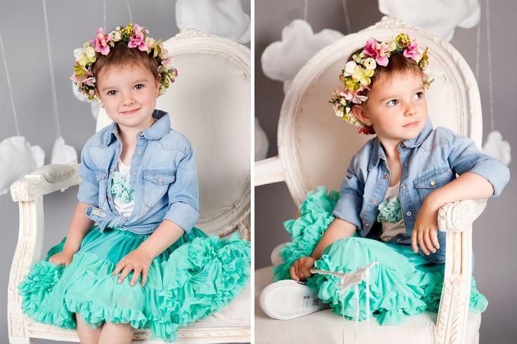 Tutu Pettit Skirt Love & Joy zielona 0-2latka - Ubranka na chrzest - Abrakadabra Sklep