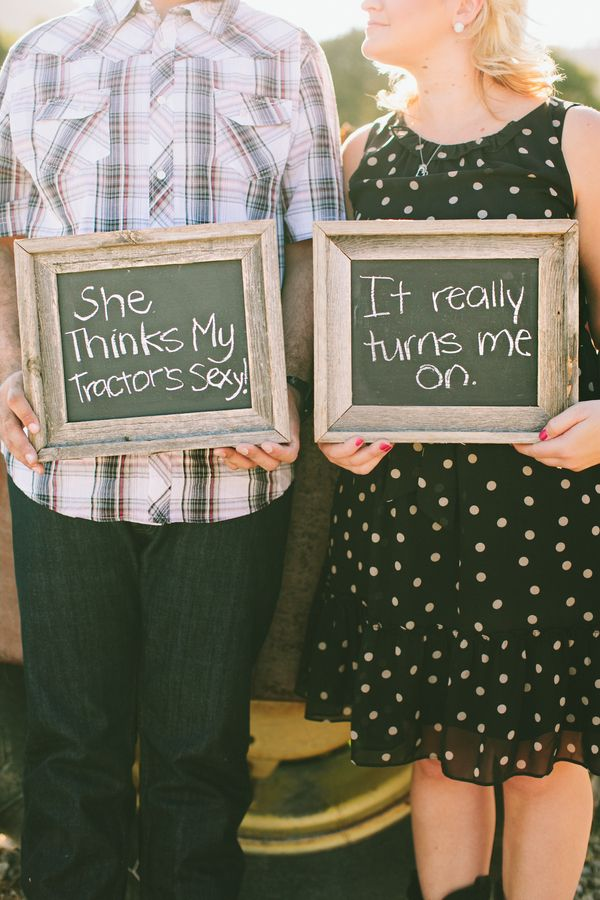 adorable idea for engagement pics / photo by waiphoto.com / see more at BorrowedandBleu.com