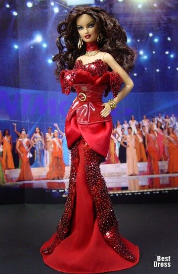 Ninimomo's Barbie.  Americas (North, Central, South).  2009/2010  Miss Nicaragua (Dress Diva)