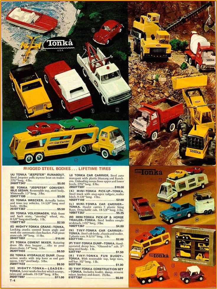 Tonka Toy Trucks >> vintage toys of the 1970's | 1970 Christmas Catalog Tonka Toys Ad | Vintage Toys | Pinterest ...