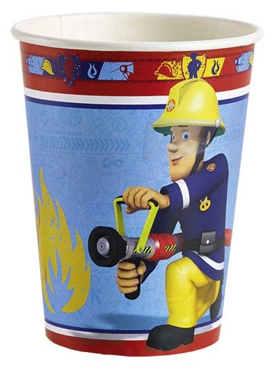 Bicchieri Sam il Pompiere - Kit Festa