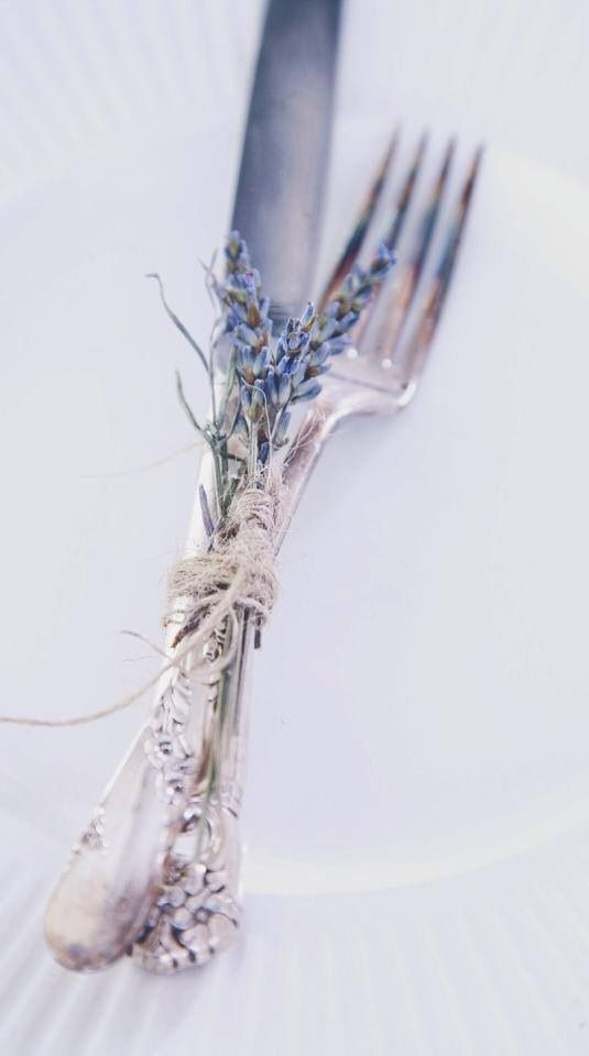 Silverware with Lavender                                                                                                                                                                                 More