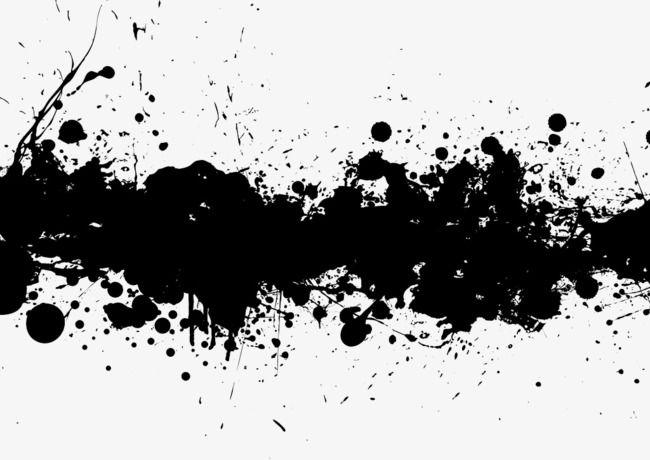 Transverse Black Ink Splash Effect Png And Clipart Gambar Dinding Seni Gambar