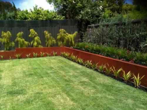 acier corten et bordure de jardin