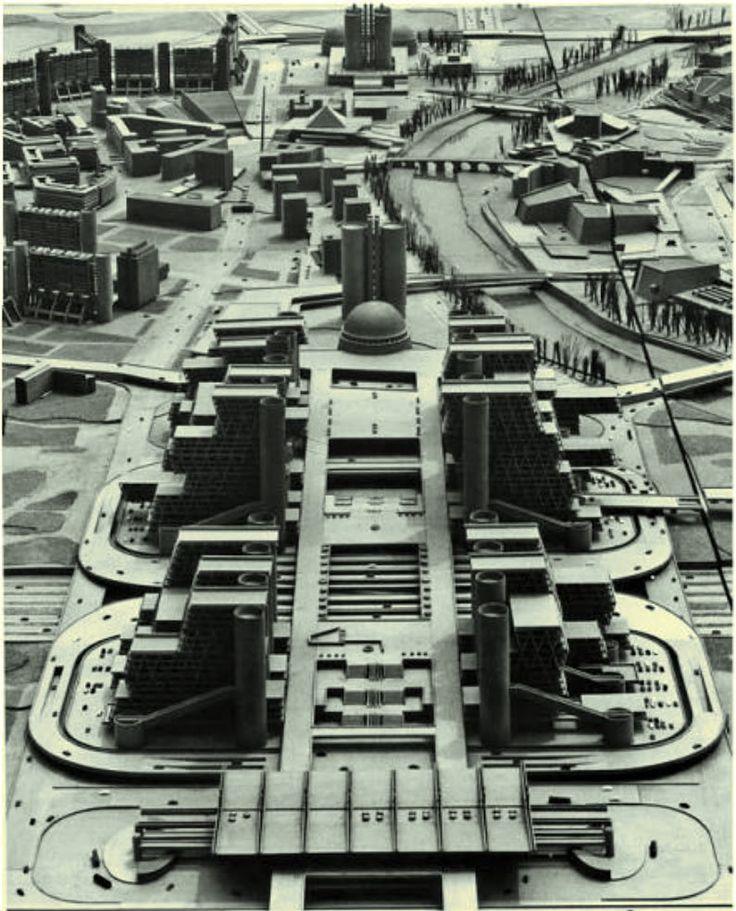 megaestructuras:  Kenzo Tange | Plan de reconstrucción de Skopje | República de…