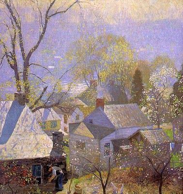 Love love love Daniel Garber!!! Landscape Painting by American Impressionist Artist Daniel Garber, one of the greatest Bucks County PA artists!