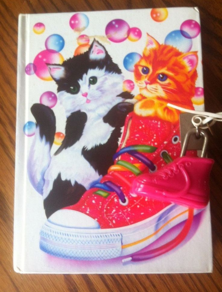 1980s lockable diary featuring cats and shoe