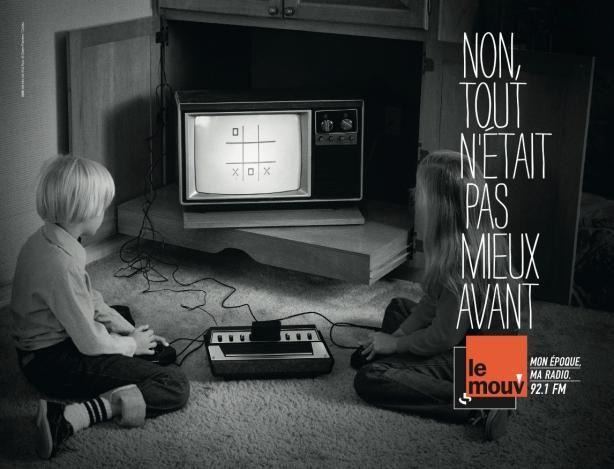 Le Mouv déclinaison de la campagne d'affichage. Métro Parisien