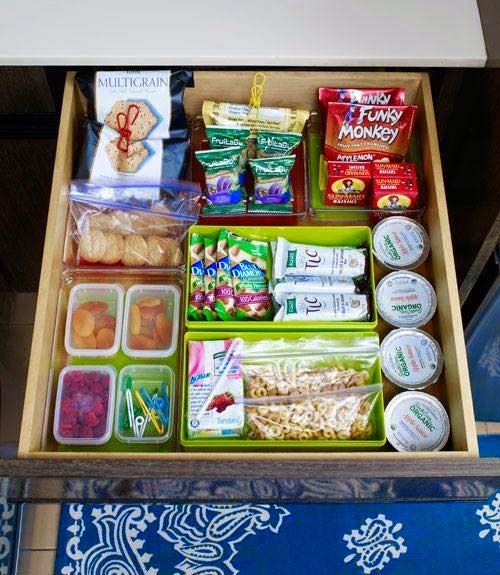 have a healthy snack drawer at your desk :)