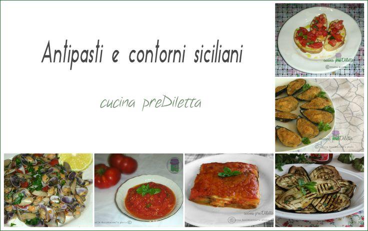 Oggi vi propongo una raccolta di ricette: antipasti e contorni siciliani. Pubblico molte ricette della mia amata Sicilia e, in particolare, ricette tipiche del catanese.
