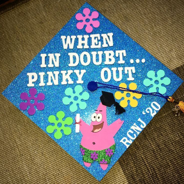 Abschluss-Kappen-Ideen SpongeBob Patrick