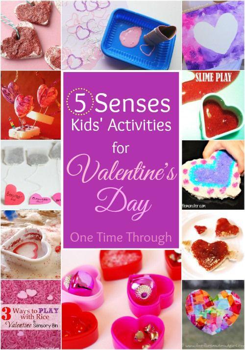 A 5 Senses Valentine's Day for Kids