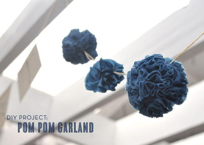 I love it!  DIY: Pom Pom Garland  http://greenweddingshoes.com/diy-pom-pom-garland/