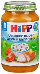 Хипп пюре овощное с рисом и цыпленком с 8 мес 220г  — 81р. ----- Пюре Hipp овощное с рисом и цыпленком для детей с 8 месяцев.  Консервы растительно-мясные, пюреобразные для питания детей раннего  возраста.  Органический продукт.  -Омега-3 - важный компонент гармоничного роста и развития  -богат натуральным В-каротином  -содержит йод - необходимый элемент для работы щитовидной железы  -содержание соли соответствует возрастным потребностям Вашего малыша  -без консервантов, красителей и…
