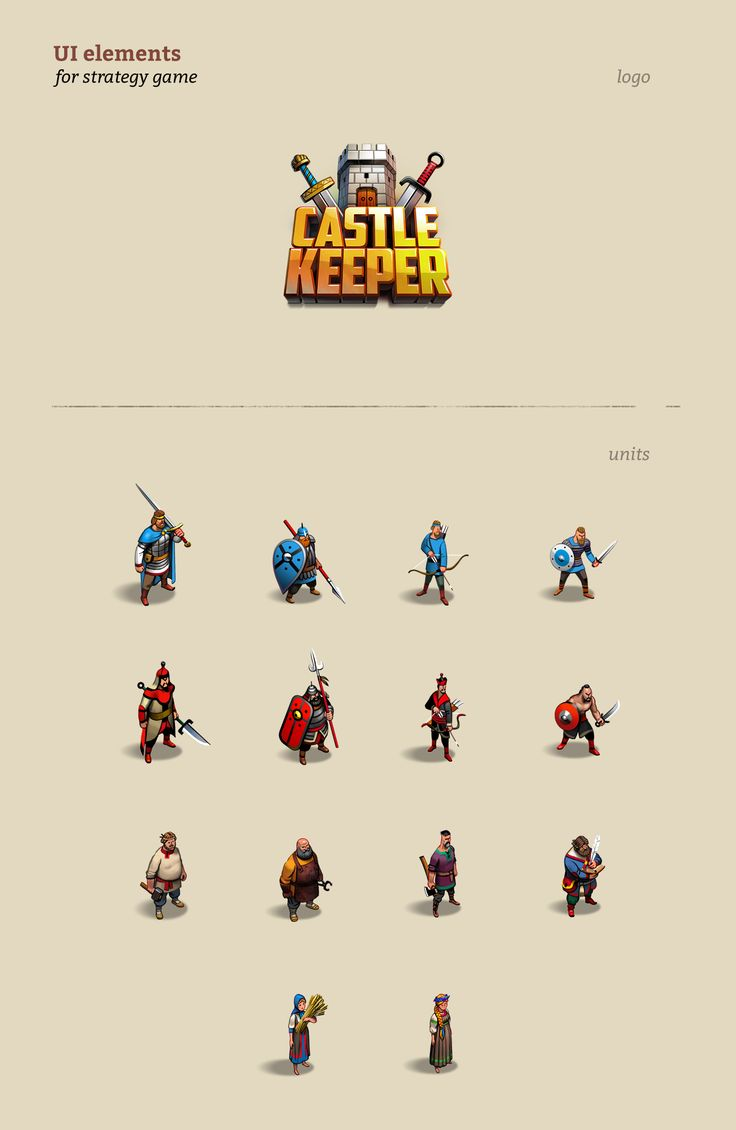 UI elements for strategy game on Behance