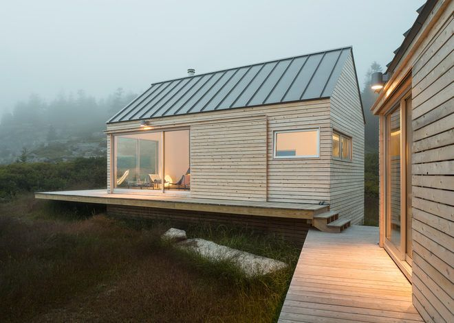Trio of Prefab Timber Cabins Form Rustic Maine Getaway - Adventures in Architecture - Curbed