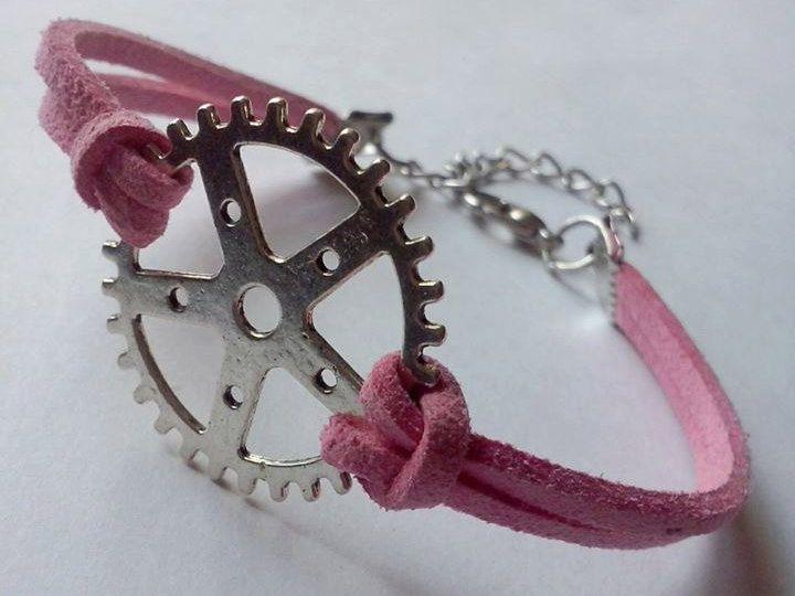 Leather jewelry,bike bracelets ,triathlon bracelets,trijewelry,bike gears bracelets by TriJewelry on Etsy