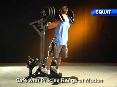 Powertec Leverage Squat/Calf Machine @ www.FitnessXpress.com.au - YouTube