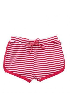 Buy Hootkid Shorty Shorts Pink Stripe