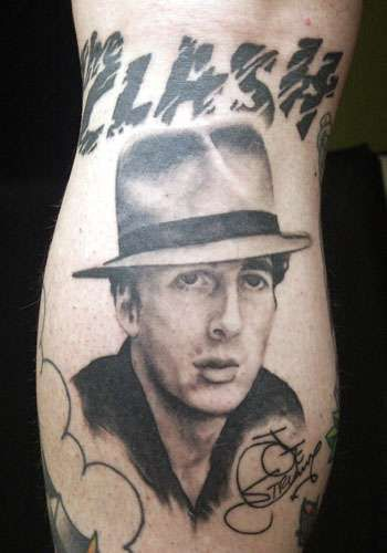 Iconic Punk Ink - The Clash Tattoos Memorialize the Great Joe Strummer (GALLERY)