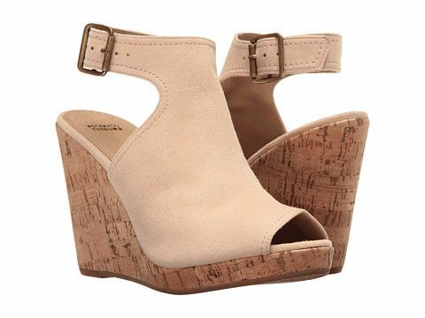 Johnston & Murphy - Mila Ankle Strap Beige Wedge