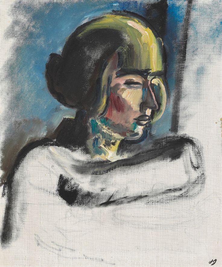 Harald Giersing (Danish, 1881–1927), Besse maler, 1921. Oil on canvas, 60 x 50 cm.