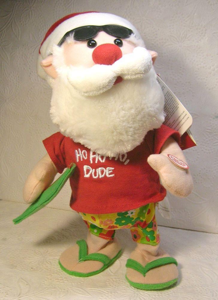 1dbbf3b3133d1 Side Stepper Hawaiian Singing and Dancing Santa Claus. He is sporting his  Hawaiian Print Shorts and wearing thongs. Santa dances as he ...