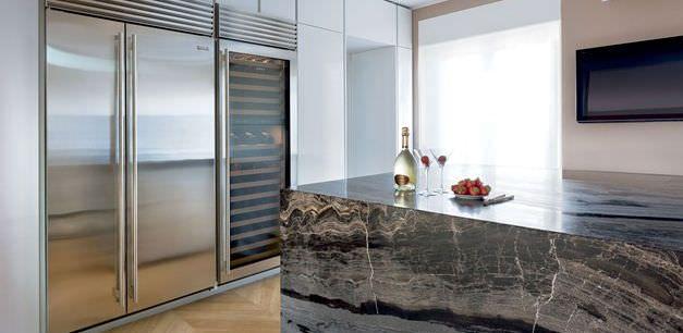 Réfrigérateur congélateur à usage résidentiel / américain / en inox / écologique BI-48S SUB-ZERO
