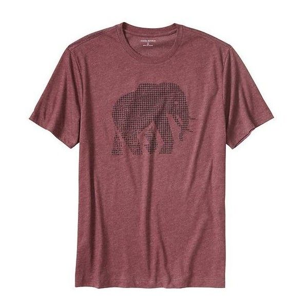 Banana Republic Men Factory Elephant Graphic Tee ($27) ❤ liked on Polyvore featuring men's fashion, men's clothing, men's shirts, men's t-shirts, men, j crew mens shirts, mens short sleeve t shirts, mens crew neck t shirts, mens t shirts and mens graphic t shirts