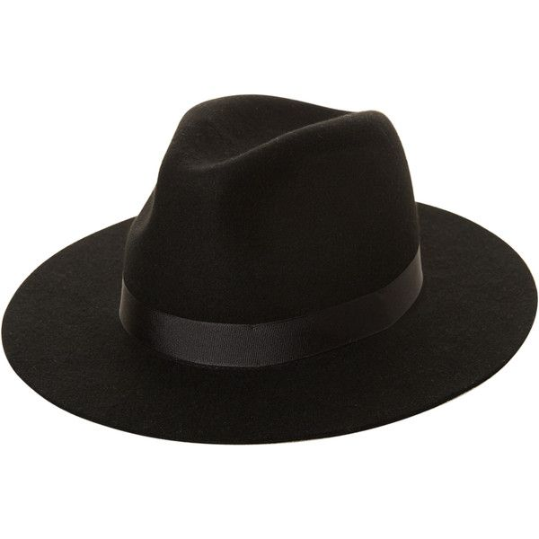 Lack Of Color The Midnight Muse Ii Hat Black (2,490 DOP) ❤ liked on Polyvore featuring accessories, hats, black, headwear, women, brim fedora hat, woolen hat, wool fedora, bow hat and wool hat